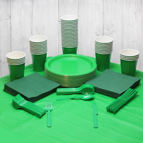 Emerald Green 54 Person Party Pack