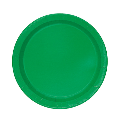 Emerald Green Round Paper Plates 17cm - Pack of 20