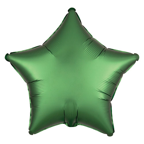 Emerald Green Satin Luxe Star Shape Foil Helium Balloon 48cm / 19 in