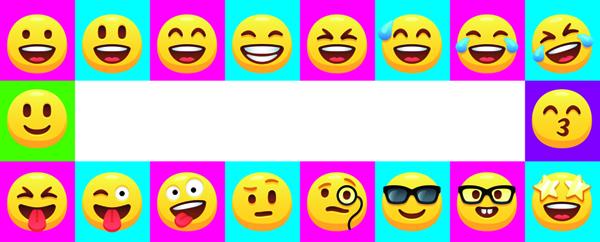 Emoji Design Medium Personalised Banner – 6ft x 2.25ft