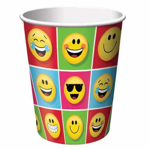 Emoji Designs Paper Cups 266ml - Pack of 8