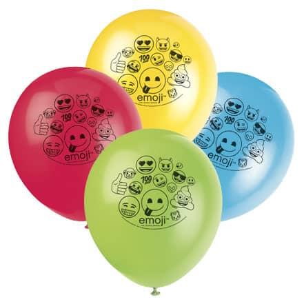 Emoji Biodegradable Latex Balloon 30cm Pack of 8 Product Image