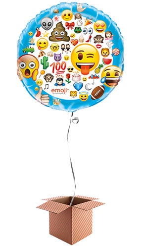 Emoji Helium Foil Giant Balloon - Inflated Balloon in a Box Product Image