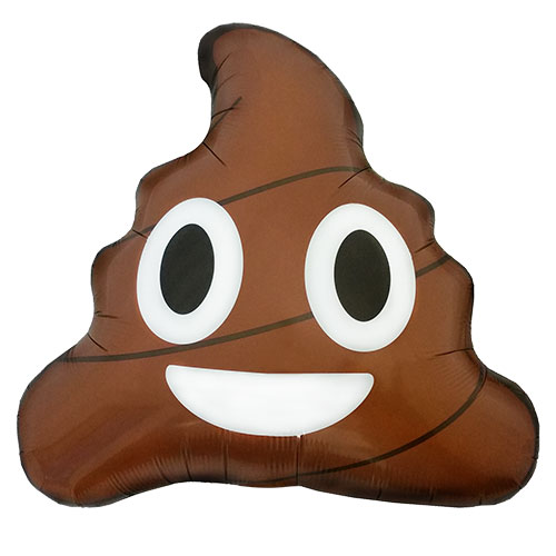 Emoticon Poop Shape Helium Foil Balloon 51cm / 20 in Product Image