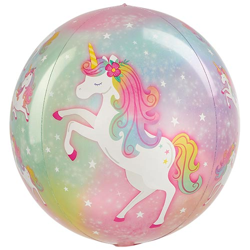 Enchanted Unicorn Orbz Foil Helium Balloon 38cm / 15 in Product Image