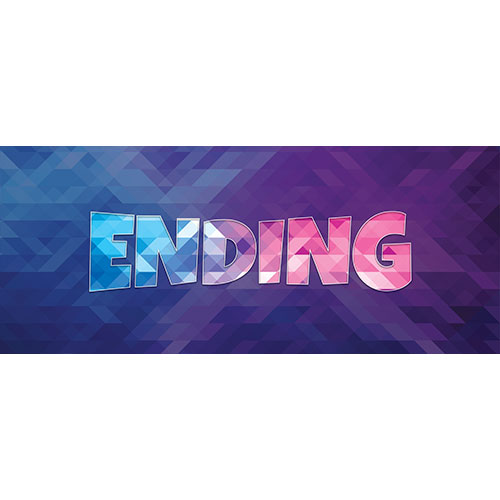 Ending Home Screen Background PVC Party Sign Decoration 60cm x 25cm Product Image
