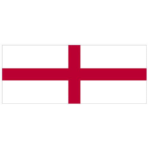 England Red Cross Flag PVC Party Sign Decoration 60cm x 24cm