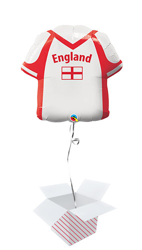 England Shirt Shape Helium Foil Giant Balloon - Inflated Balloon in a Box Product Image