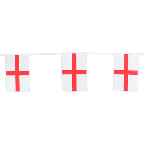 England St. George's Day Plastic Flag Bunting 6m