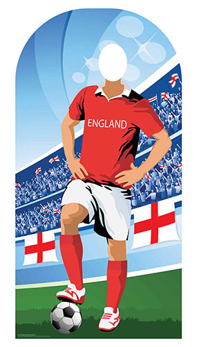 England Football Stand-In Cardboard Cutout 190cm Product Image