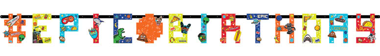 Epic Party Jumbo Letter Banner 320cm Product Image
