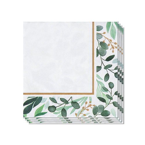 Eucalyptus Green Beverage Napkins 25cm 2Ply - Pack of 16 Product Image