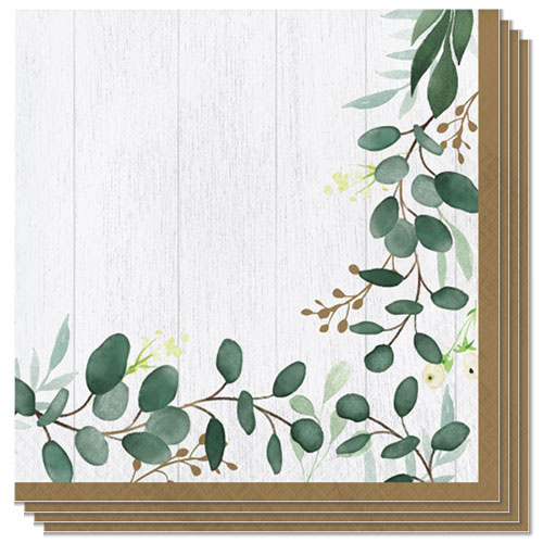 Eucalyptus Green Luncheon Napkins 33cm 2Ply - Pack of 16 Bundle Product Image
