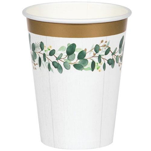 Eucalyptus Green Paper Cups 354ml - Pack of 8 Product Image