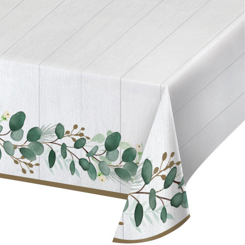 Eucalyptus Green Paper Tablecover 259cm x 137cm Product Image
