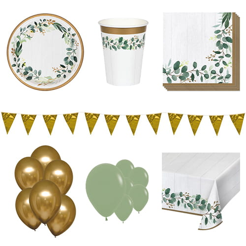 Eucalyptus Green 16 Person Deluxe Party Pack Product Image