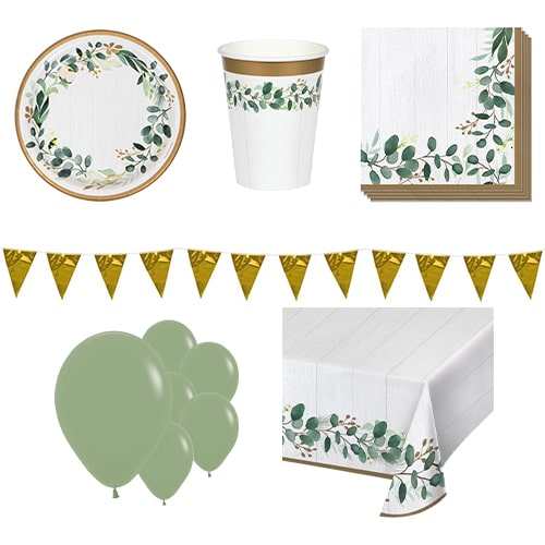 Eucalyptus Green 8 Person Deluxe Party Pack Product Image