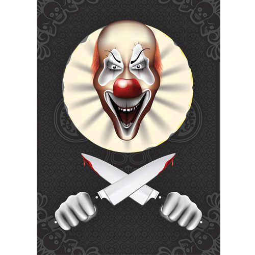 Evil Laughing Clown Halloween A3 Poster PVC Party Sign Decoration 42cm x 30cm Product Gallery Image