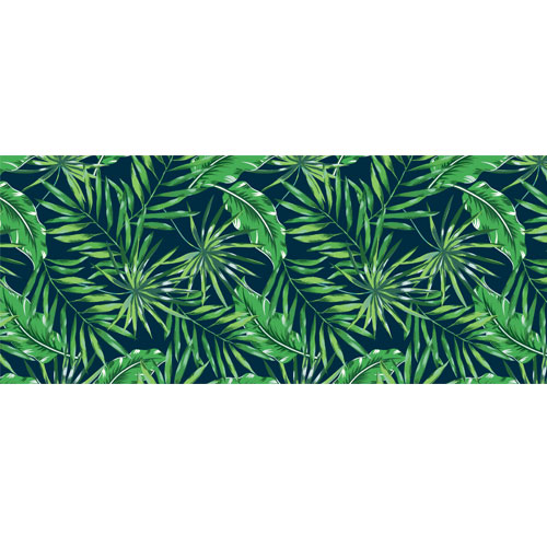 Exotic Greenery PVC Party Sign Decoration 60cm x 25cm Product Image