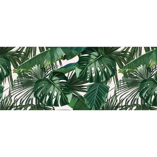 Exotic Leaves PVC Party Sign Decoration 60cm x 25cm
