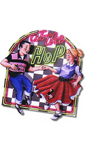 Fabulous 50's 'At The Hop' Decorative Cutout - 16.5 Inches / 42cm Product Image