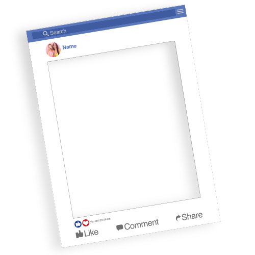 Facebook Style Personalised Selfie Frame Photo Prop