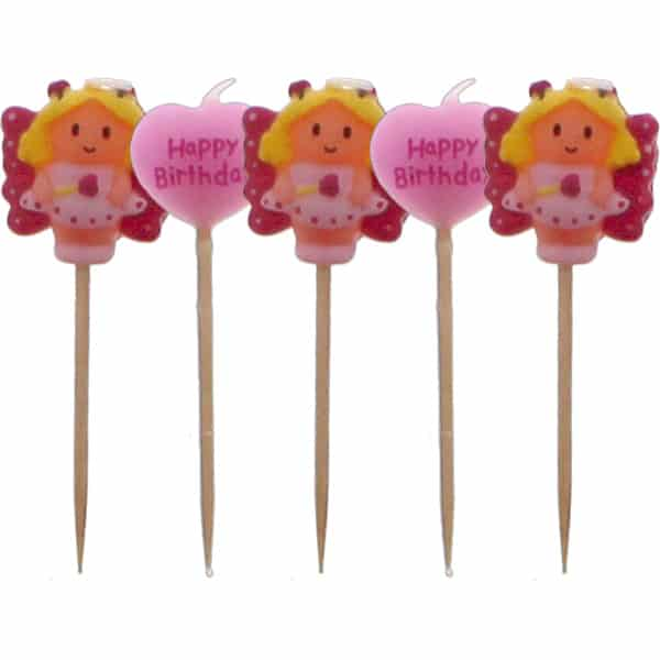 Fairy Birthday Candles - Pack of 5