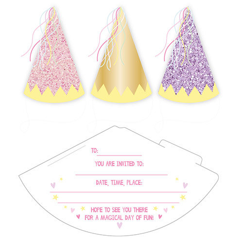 Fairy Princess Invitations with Envelopes - Pack of 6