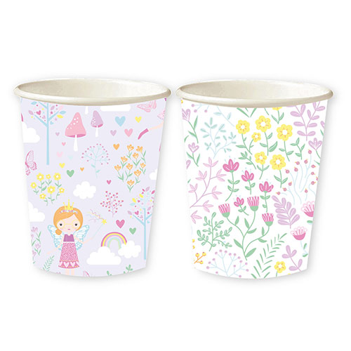 Fairy Princess Paper Cups 250ml - Pack of 8