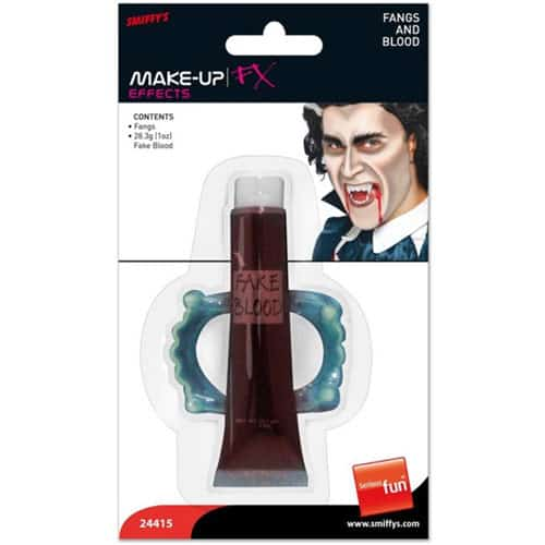 Halloween Fake Blood And Fangs Set Product Image