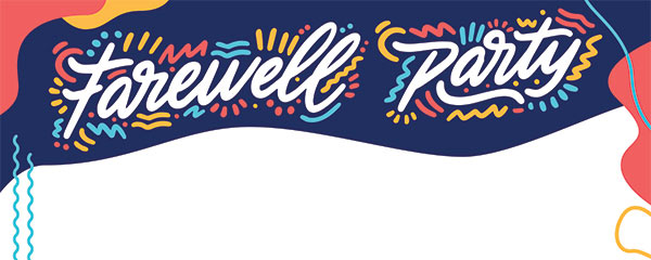 Farewell Party Design Medium Personalised Banner 6ft x 2.25ft