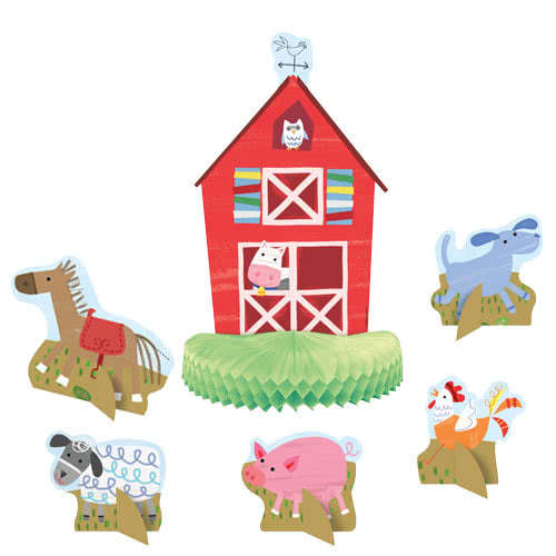 Farm Friends Party Centrepiece Decoration - Pack of 6