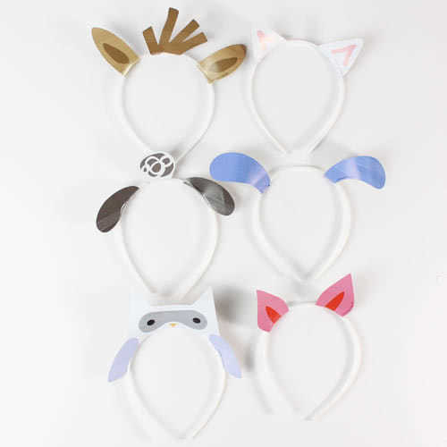 Farm Friends Party Headbands - Pack of 6