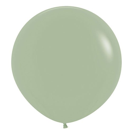 Fashion Green Eucalyptus Jumbo Biodegradable Latex Balloons 61cm / 24 in - Pack of 3 Product Image