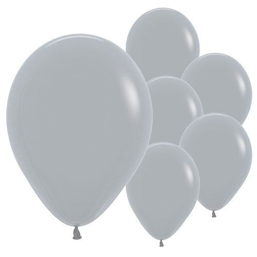 Fashion Solid Grey Biodegradable Latex Balloons 30cm / 12 in - Pack of 50