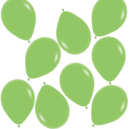 Fashion Solid Lime Green Biodegradable Mini Latex Balloons 13cm / 5 in - Pack of 100