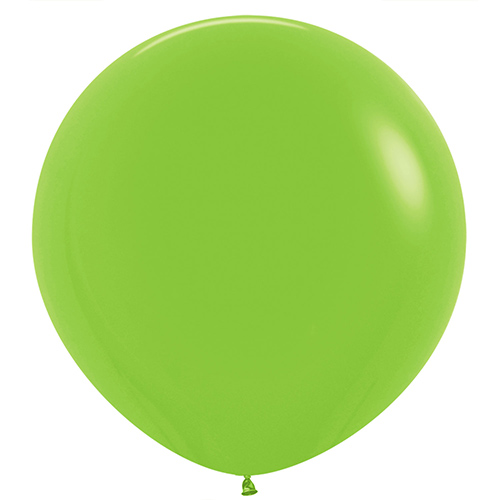Fashion Solid Lime Green Round Jumbo Latex Balloons 91cm / 36 in - Pack of 2 Product Image