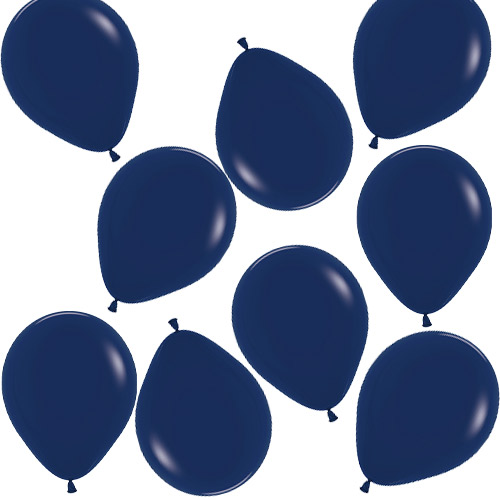Fashion Solid Navy Blue Biodegradable Mini Latex Balloons 13cm / 5 in - Pack of 100 Product Image