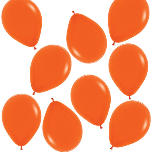 Fashion Solid Orange Biodegradable Mini Latex Balloons 13cm / 5 in - Pack of 100