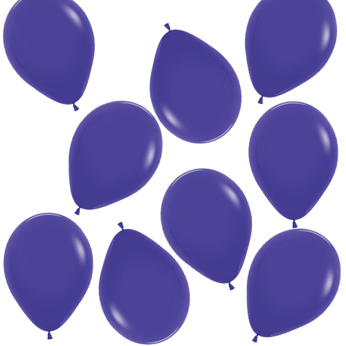 Fashion Solid Purple Biodegradable Mini Latex Balloons 13cm / 5 in - Pack of 100