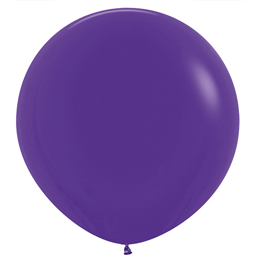 Fashion Solid Purple Round Jumbo Latex Balloons 91cm / 36 in - Pack of 2 Product Image