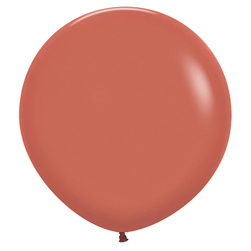 Fashion Terracotta Burnt Orange Biodegradable Latex Balloons 60cm / 24 in - Pack of 3 Product Image