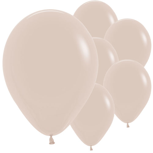Fashion White Sand Biodegradable Latex Balloons 30cm / 12 in - Pack of 50 Product Image