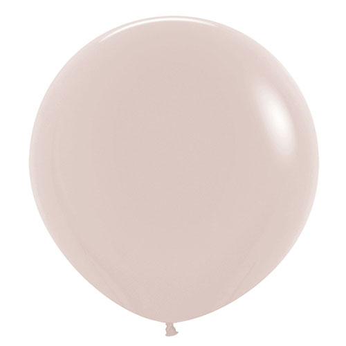 Fashion White Sand Jumbo Biodegradable Latex Balloons 61cm / 24 in - Pack of 3