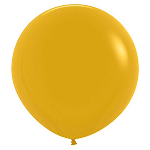 Fashion Yellow Mustard Biodegradable Latex Balloons 60cm / 24 in - Pack of 3 Product Image