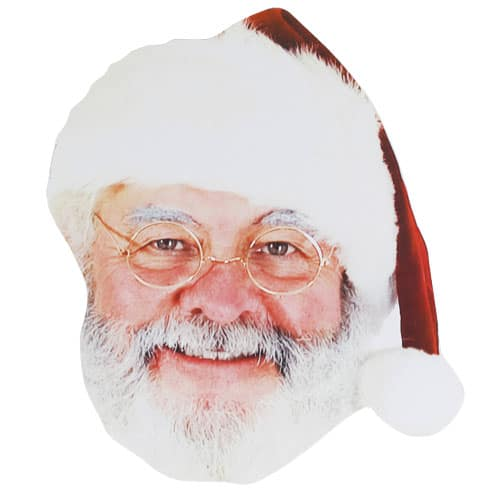 Father Christmas Cardboard Face Mask Product Image