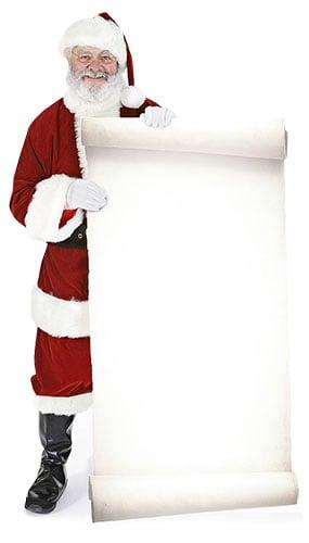 Father Christmas Large Sign Lifesize Cardboard Cutout - 183cm
