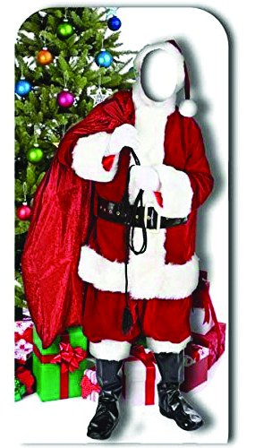 Father Christmas Stand In Cardboard Cutout - 186cm