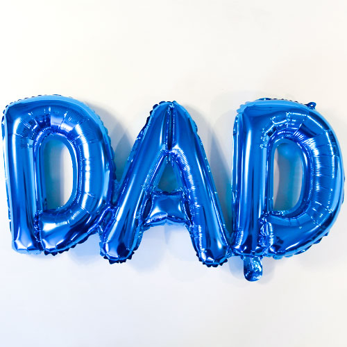 Father's Day Dad Air Fill Foil Balloon 34cm / 13 Inch