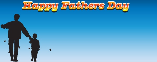 Happy Fathers Day Blue Skies Design Small Personalised Banner - 4ft x 2ft